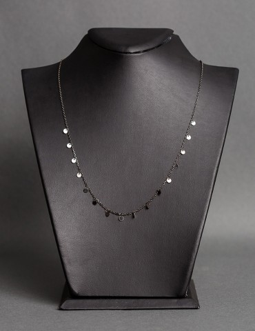 Βlack silver necklace Remina