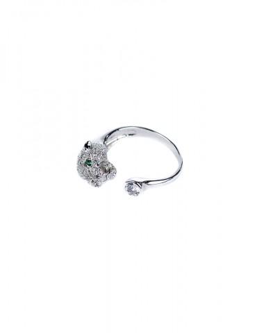 Ρanthere silver ring