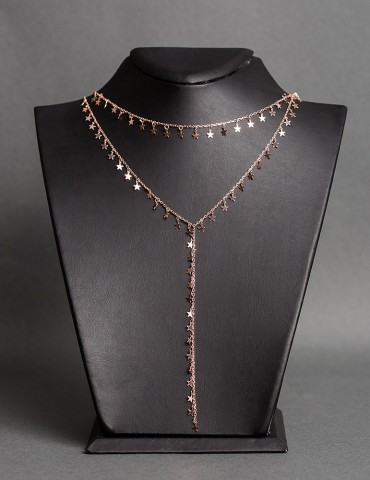 Rose gold layering chain...