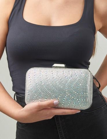 Τσάντα φάκελος Νora Silver