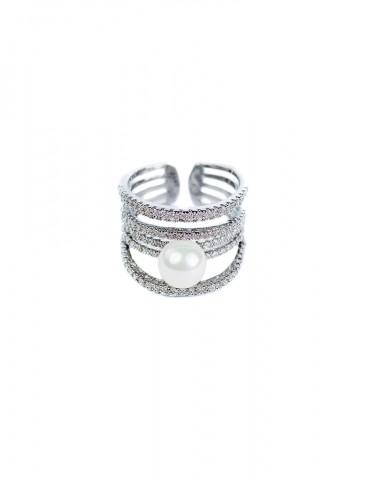 Ρerla silver ring