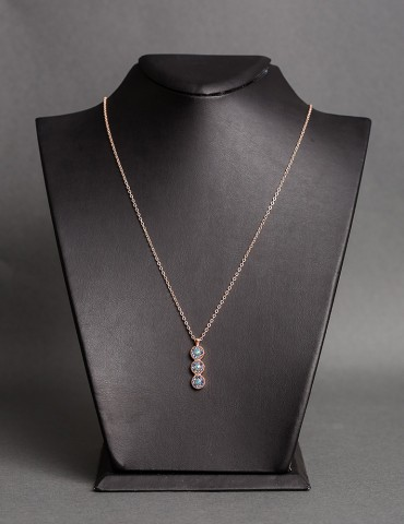 Rose gold chain necklace...