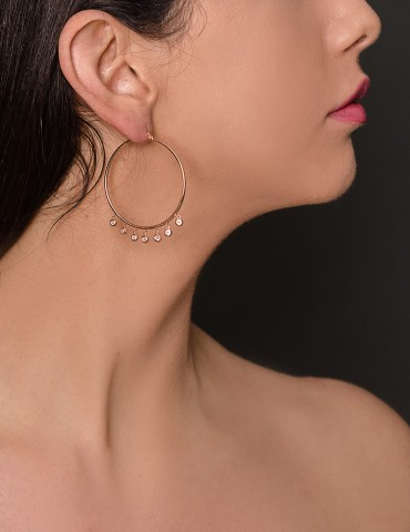 Roise gold hoop earrings...