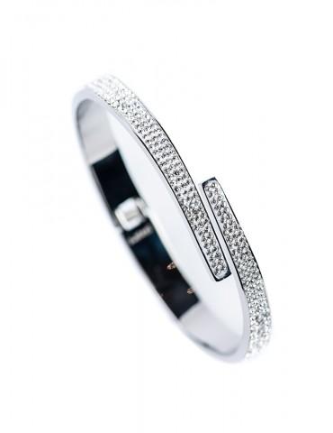 Silver cuff bracelet Loretta