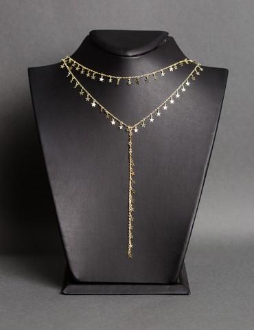 Gold layering chain...