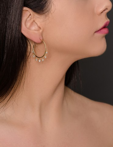 Christy gold zirconia hoops
