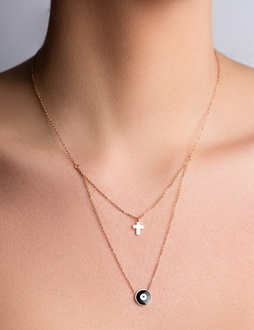 Celina layering cross necklace