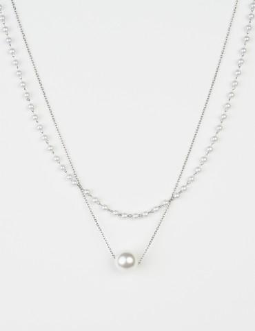 Ρierra set of 2 pearl necklaces