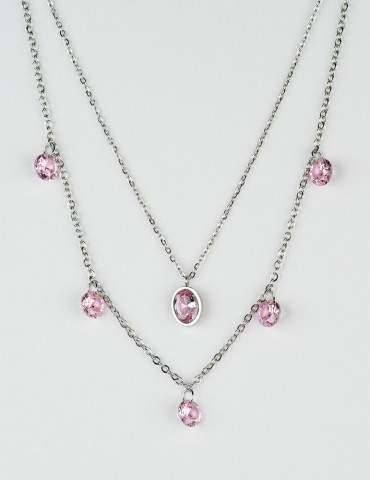 Rosa set of 2 necklaces