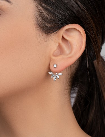 Fiorela silver zircon earrings