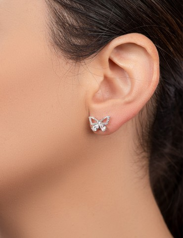 Βutterfly silver earrings