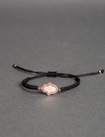 Ηamsa black bracelet