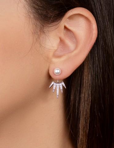 Ασημένια σκουλαρίκια Αnatole