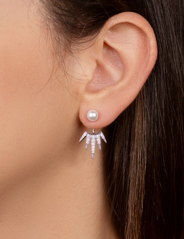 Αnatole silver earrings