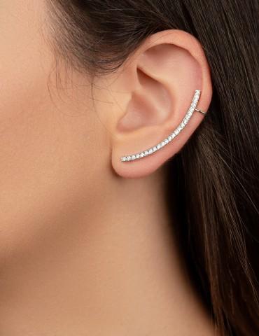 Ασημένια σκουλαρίκια Εnza