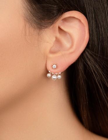 Daisy rose silver earrings