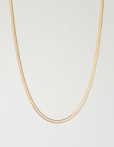 Thin Snakeskin gold chain