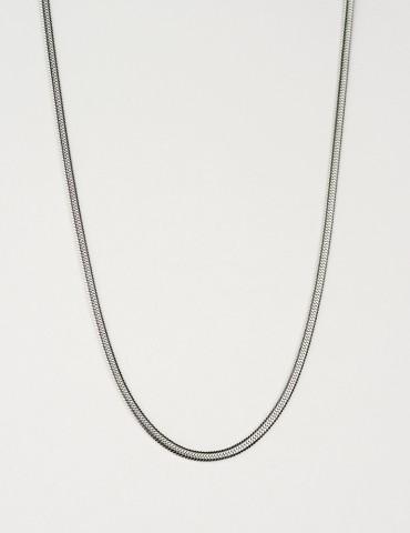 Snakeskin long silver chain
