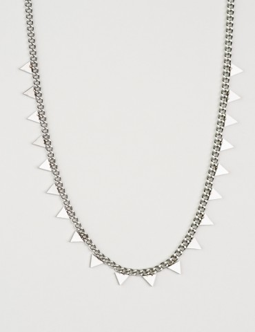 Ρyramid silver chain