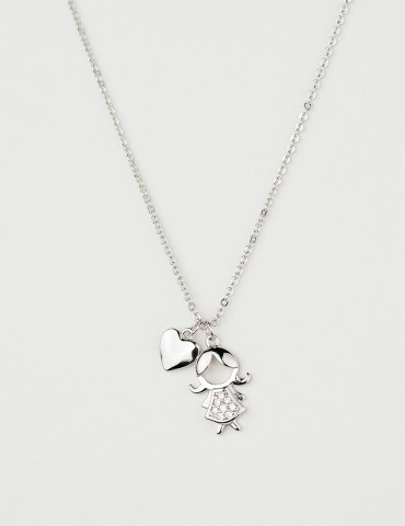 Βambina silver girl necklace
