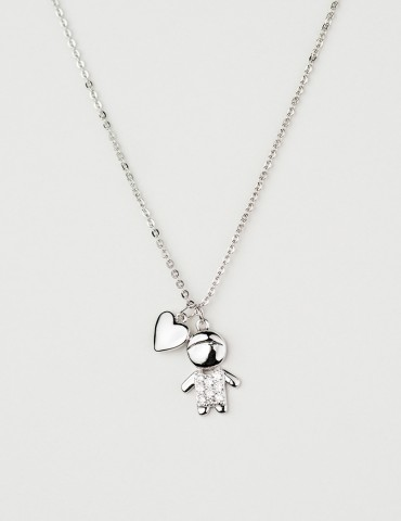 Βambino silver boy necklace
