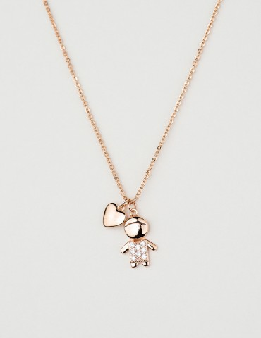 Βambino rose boy necklace