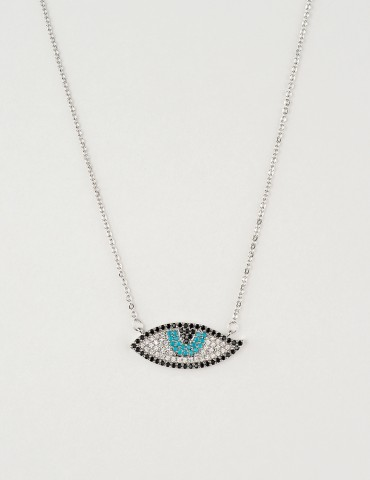 Νora silver evil eye necklace