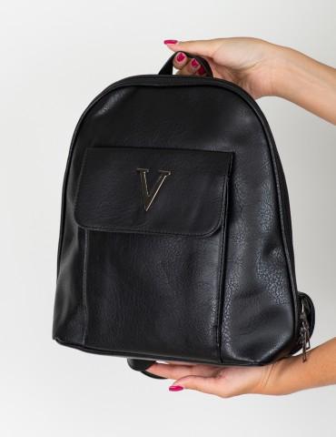 Μαύρο Backpack Valentina Black