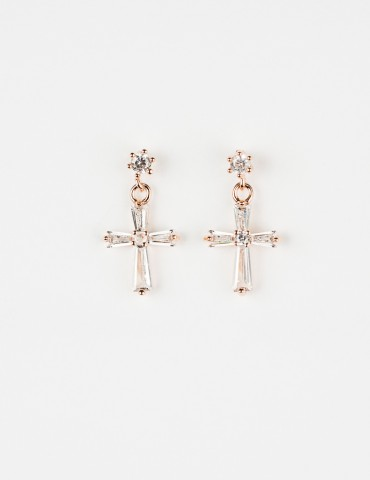 Εlda Rose Cross Εarrings
