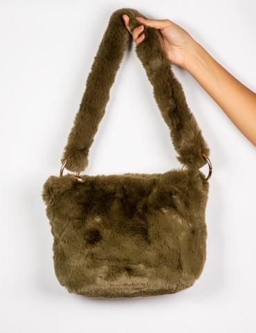 Celia Green Fur Βag