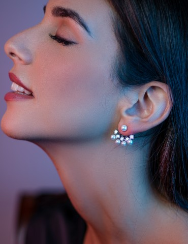 Lilla Silver Εarrings with...