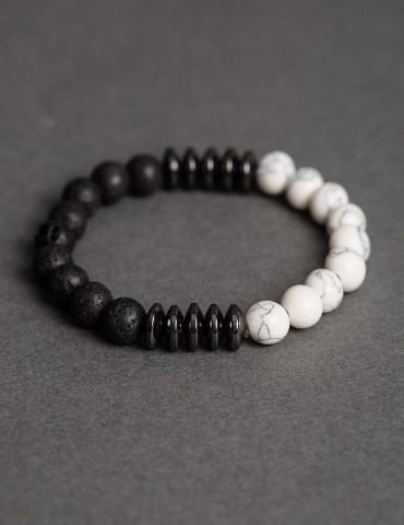 Dario black&white bracelet