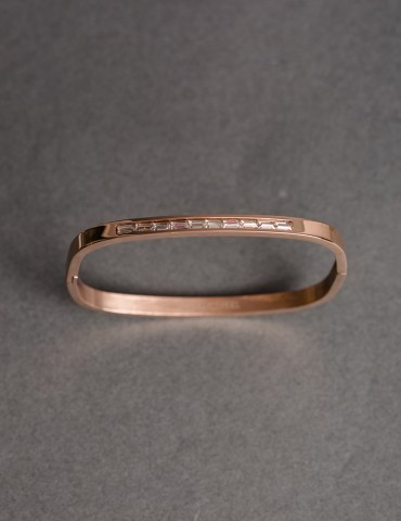 Squared cuff bracelet with...