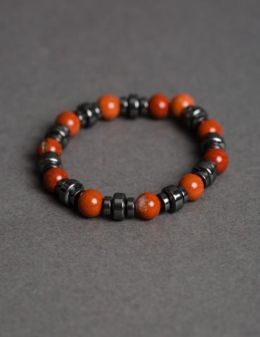 Βruno brown hematite bracelet