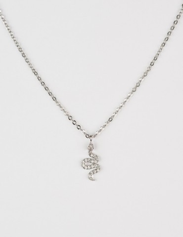 Python Silver Necklace