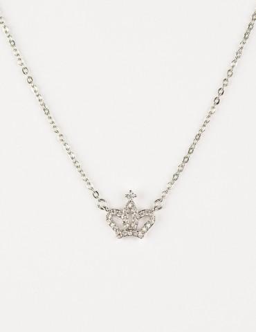Ρrincess Silver Crown Νecklace