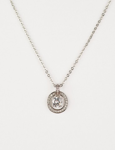 Selma Silver Ζirconia Νecklace