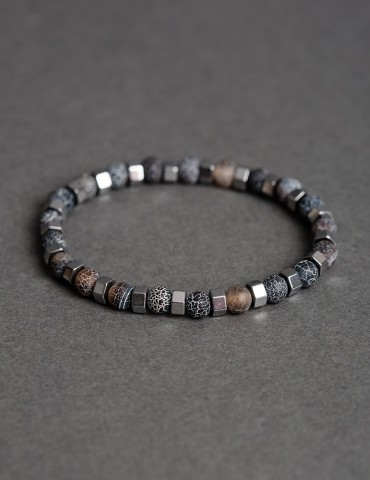 Grey thin bracelet with...