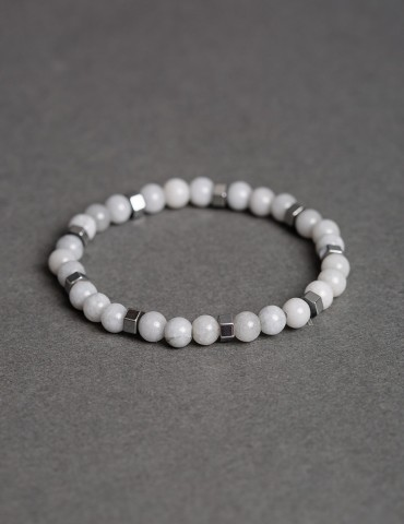 White thin bracelet with...