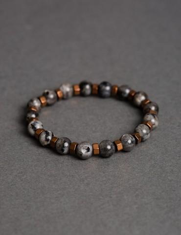 Grey bracelet with details...