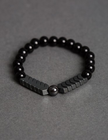Shiny black bracelet with...