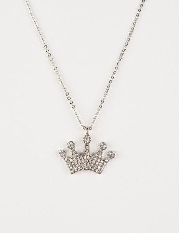Αgostina Silver Crown Νecklace