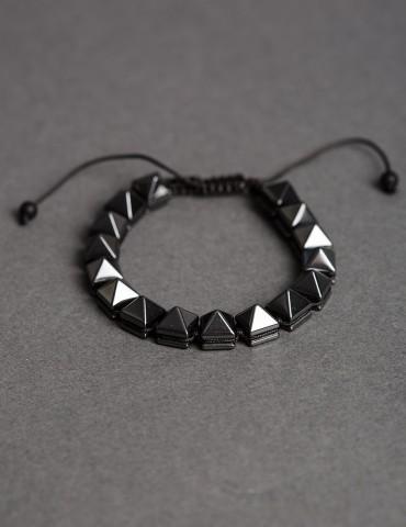 Ρyramid adjustable bracelet