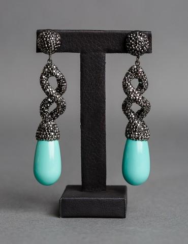 Σκουλαρίκια Lidia Τurquoise