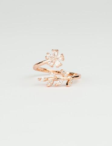 Rose Gold Flower Ring Daisy