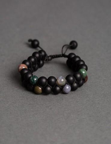 Βlack metallic bracelet...