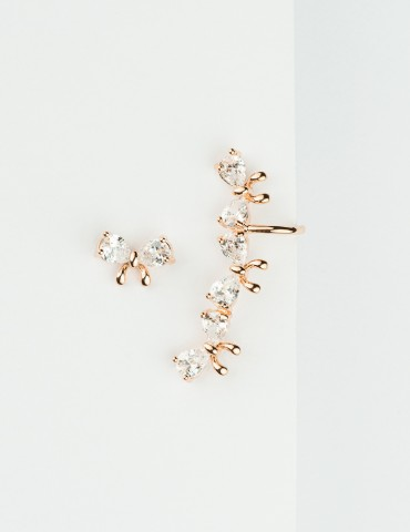 Fiona Rose Silver Εarrings