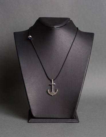 Βlack string necklace with...