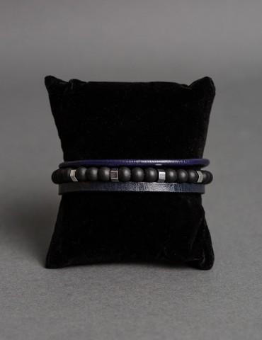 Fabio triple leather bracelet