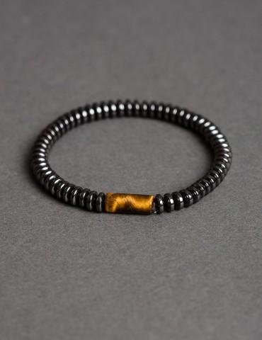 Τiger Εye hematite bracelet